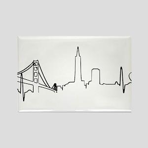 San Francisco Heartbeat (Heart) Rectangle Magnet