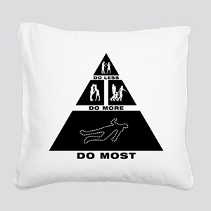 Crime Scene Square Canvas Pillow