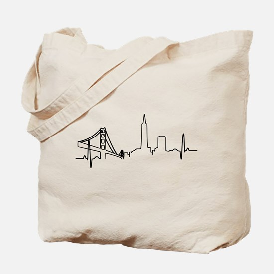 San Francisco Heartbeat Tote Bag