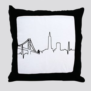 San Francisco Heartbeat Throw Pillow