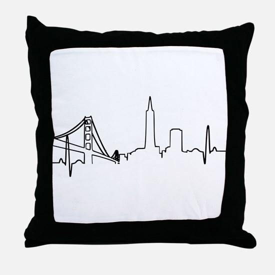 San Francisco Heartbeat Throw Pillow