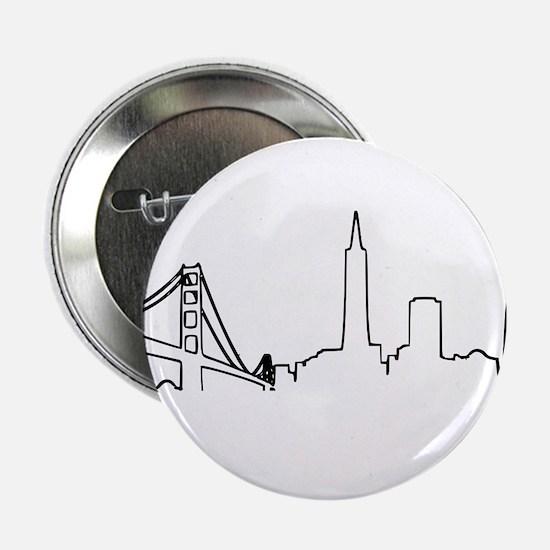 "San Francisco Heartbeat 2.25"" Button"