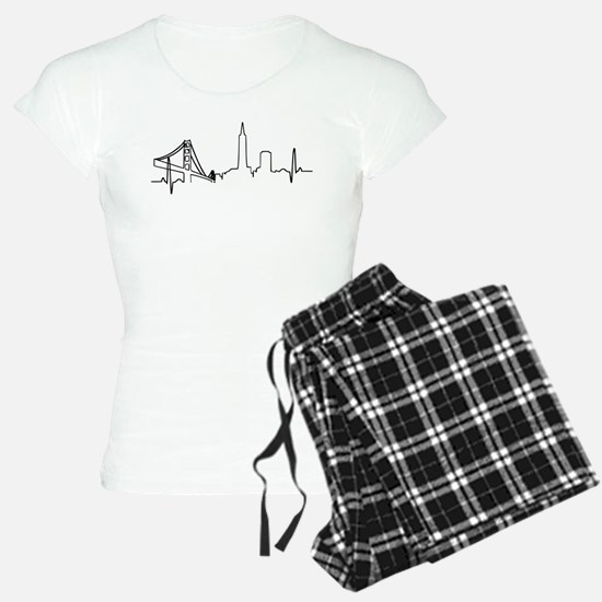 San Francisco Heartbeat Pajamas