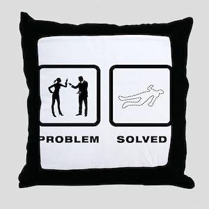 Crime Scene Throw Pillow