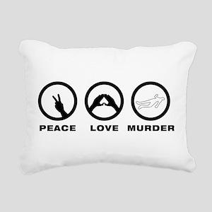 Crime Scene Rectangular Canvas Pillow