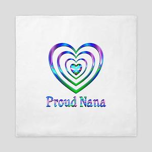 Proud Nana Hearts Queen Duvet