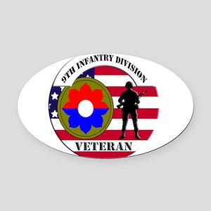 9th Infantry Division Oval Car Magnet