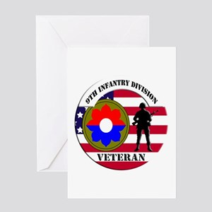 9th Infantry Division Greeting Card