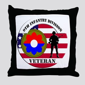 9th Infantry Division Throw Pillow