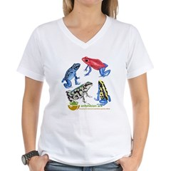 Women's Poison Dart Frog V-Neck T-Shirt
