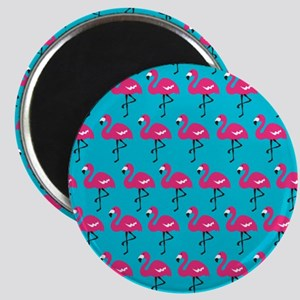 Cute Marching Pink Flamingos Magnet