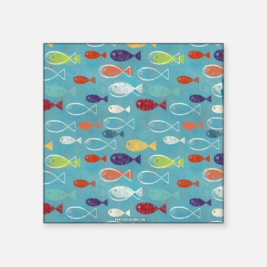 Cute Summer Beach Fish Sticker