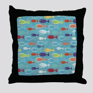 Cute Summer Beach Fish Throw Pillow