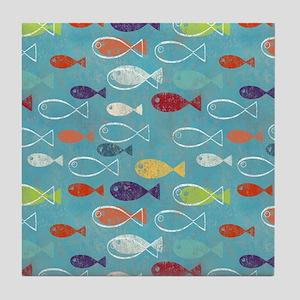 Cute Summer Beach Fish Tile Coaster