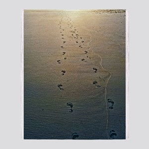 Footprints in the Sand Throw Blanket