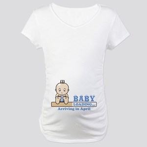 Arriving in April Maternity T-Shirt
