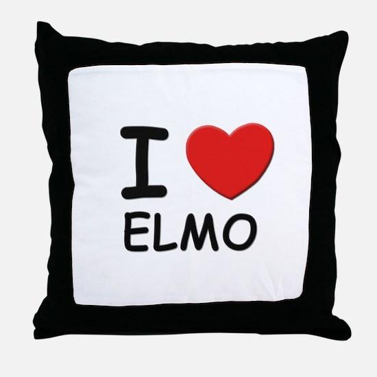 I love Elmo Throw Pillow