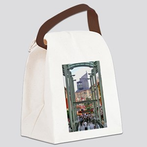 Chinatown Station - Singapore Canvas Lunch Bag