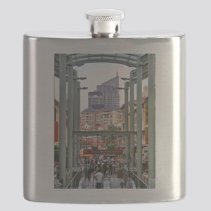 Chinatown Station - Singapore Flask