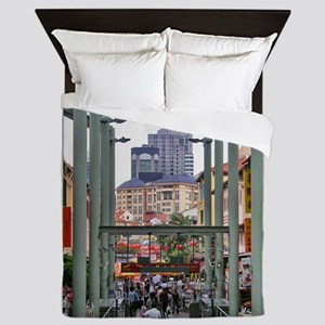 Chinatown Station - Singapore Queen Duvet