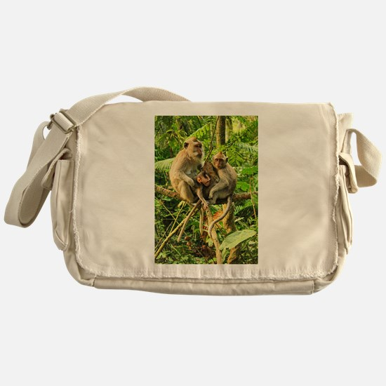Togetherness on a Branch Messenger Bag