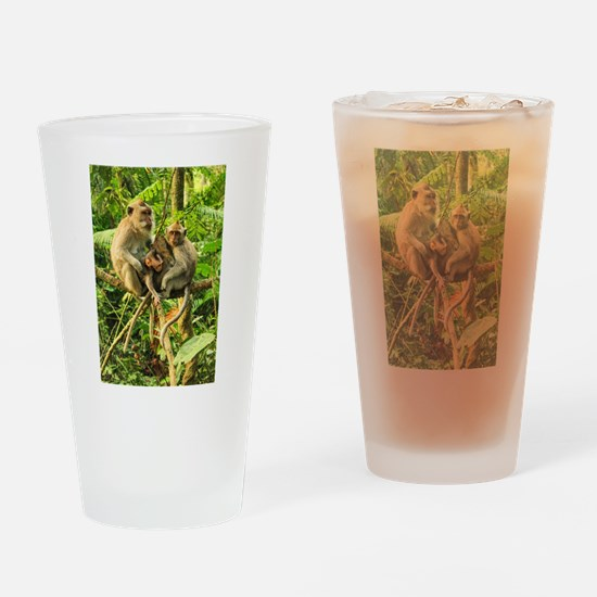 Togetherness on a Branch Drinking Glass