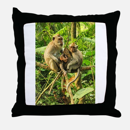 Togetherness on a Branch Throw Pillow
