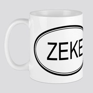Zeke Oval Design Mug
