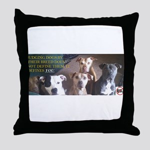 Pitbull Judgement Throw Pillow