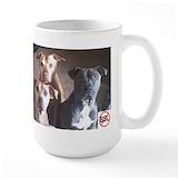Pit bull Large Mugs (15 oz)