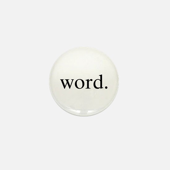 Word. Mini Button