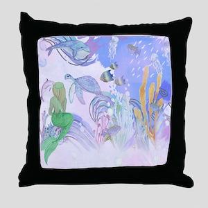 Secret World Under the Sea Throw Pillow