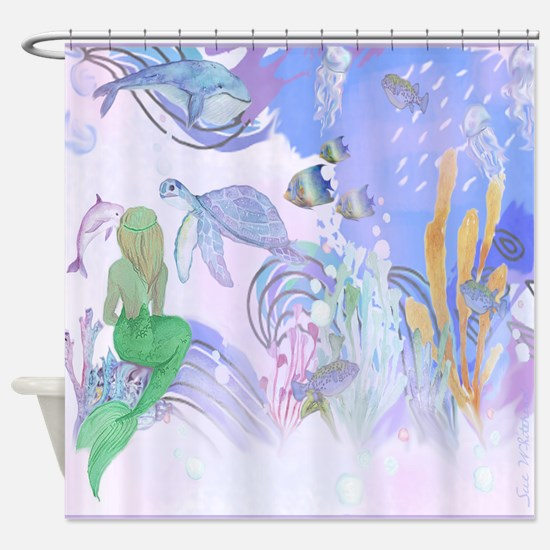 Secret World Under the Sea Shower Curtain
