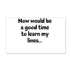 Learn my lines Wall Decal
