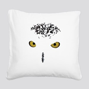 Snowy Owl Square Canvas Pillow