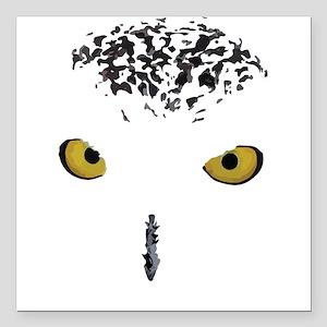 "Snowy Owl Square Car Magnet 3"" x 3"""