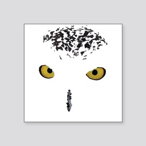 """Snowy Owl Square Sticker 3"""" x 3"""""""