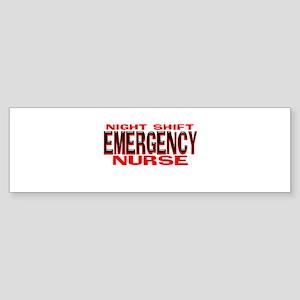 NS EMERGENCY NURSE Bumper Sticker