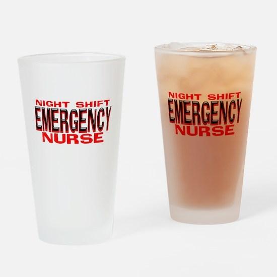NS EMERGENCY NURSE Drinking Glass