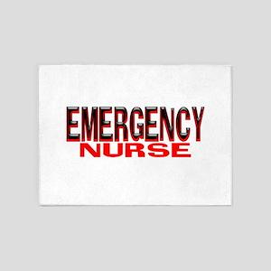 EMERGENCY NURSE 5'x7'Area Rug