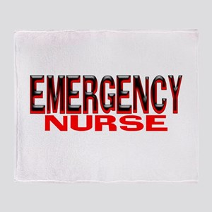 EMERGENCY NURSE Throw Blanket