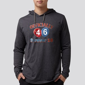 officially 46 forever 18 Mens Hooded Shirt