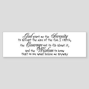 Fisherman's Prayer Bumper Sticker