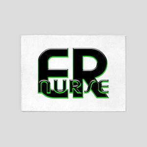 EMERGENCY NURSE 3 5'x7'Area Rug