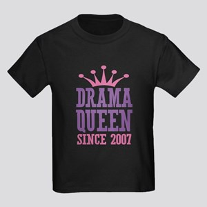 Drama Queen Since 2007 Kids Dark T-Shirt