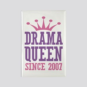 Drama Queen Since 2007 Rectangle Magnet