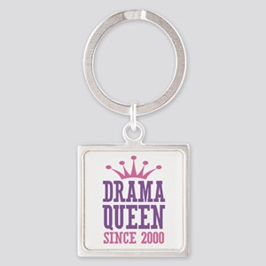 Drama Queen Since 2000 Square Keychain
