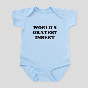 World's Okayest Insert Personalize Infant Bodysuit