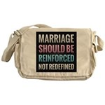 Marriage Should Be Reinforced Messenger Bag