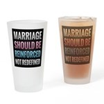 Marriage Should Be Reinforced Drinking Glass
